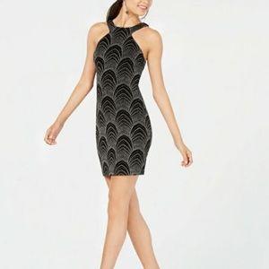 Glitter-Embellished Bodycon Dress
